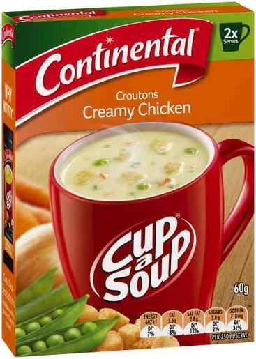 CROUTONS CREAMY CHICKEN CUP-A-SOUP 2 SERVES 60GM