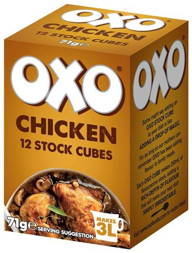 CHICKEN STOCK CUBES 12S