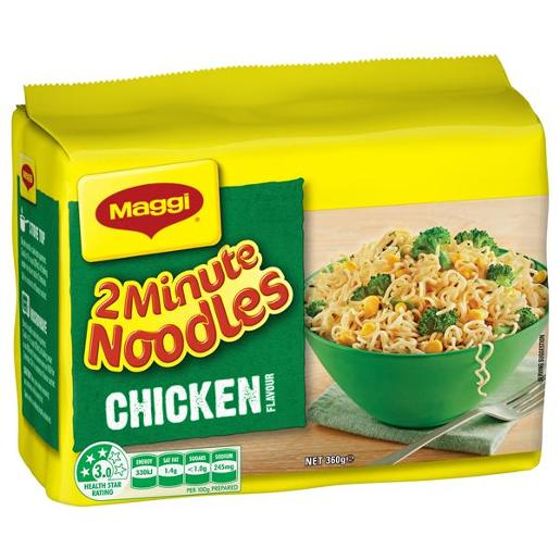 CHICKEN 2 MINUTE NOODLES 5 PACK 72GM