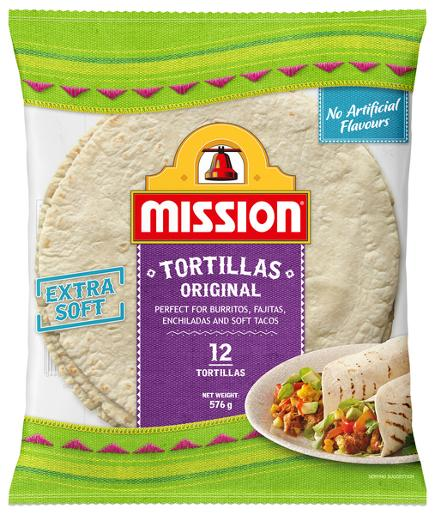 8 INCH BURRITO TORTILLAS 576GM