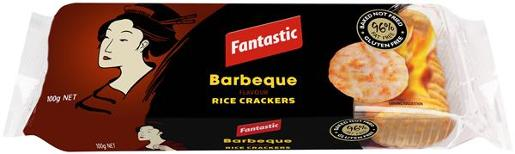 RICE CRACKERS BARBEQUE 100GM
