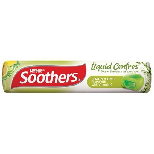 SOOTHERS LEMON AND LIME MEDICATED LOZENGES 10GM