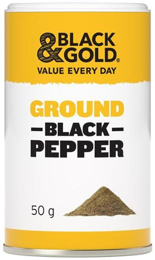 GROUND BLACK PEPPER 50GM
