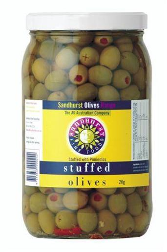 STUFFED GREEN OLIVES 2KG