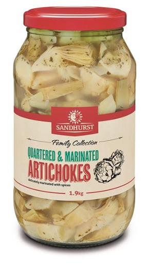 QUARTERED AND MARINATED ARTICHOKES 1.9KG