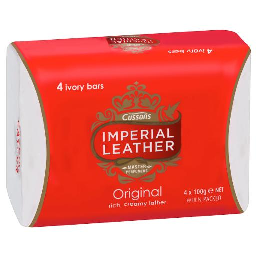 LEATHER SOAP ORIGINAL 4X100GM