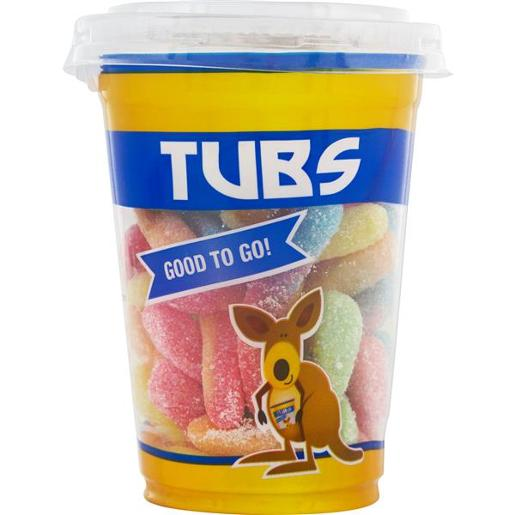 TUBS FIZZY WORMS 130GM